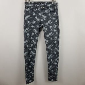 Kut From The Kloth Diana Skinny Gray Floral Jeans